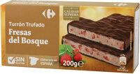 Turrón chocolate con fresas del bosque - Producto - es