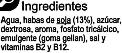 Bebida de soja con calcio sabor vainilla - Ingredients - es
