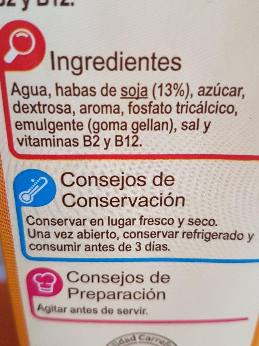 Bebida de soja calcio vainilla - Ingrédients - fr