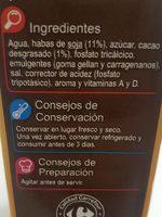 Bebida de soja calcio chocolate - Ingrédients - fr