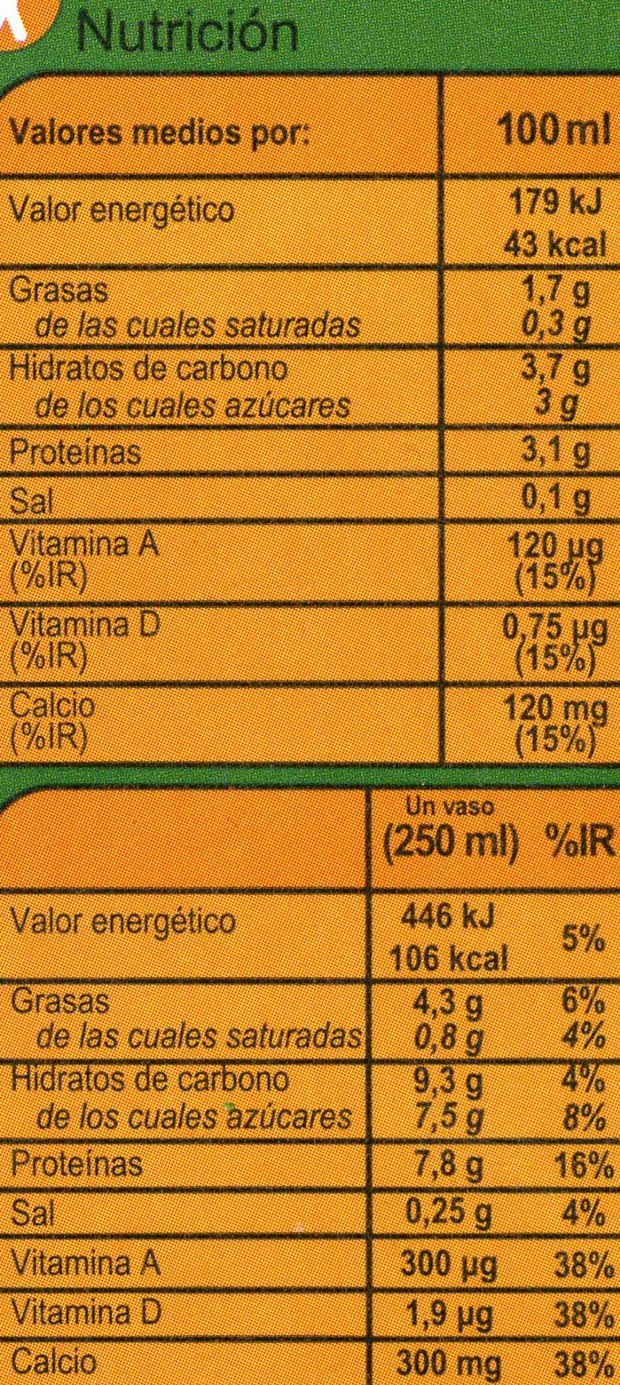 Soja calcio - Informació nutricional