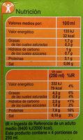 Bebida de soja sin azúcares añadidos - Información nutricional - es