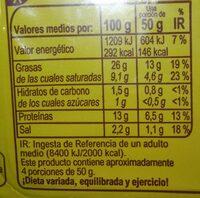 Tiras de Bacon Sabor Ahumado - Informació nutricional
