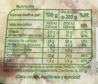 Pizza Bacon & Queso - Valori nutrizionali - es