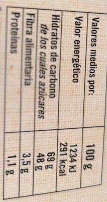 Membrillo precortado - Voedingswaarden - es