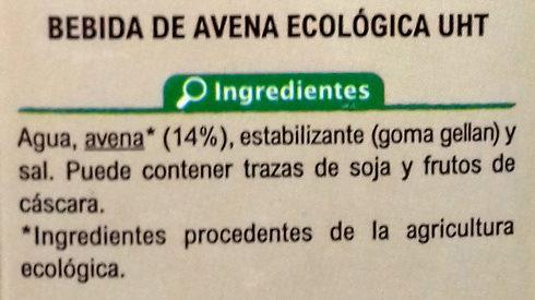 Bebida avena - Ingredientes - es