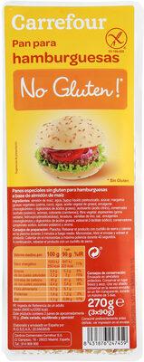 Pan de hamburguesa sin gluten - Prodotto - es