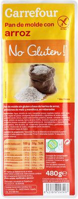 Pan de molde con arroz - Prodotto - es
