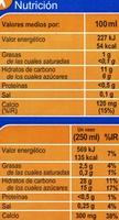 Leche de arroz calcio - Información nutricional
