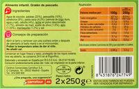 Tarrito gratin de pescado - Informations nutritionnelles - es