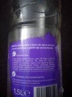 Agua frutos rojos - Ingredientes - es
