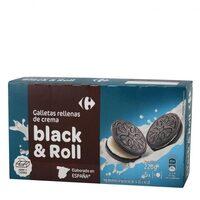 Galleta rellena de crema black&roll - Producto - es