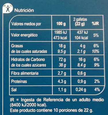 Black & Roll - Informació nutricional