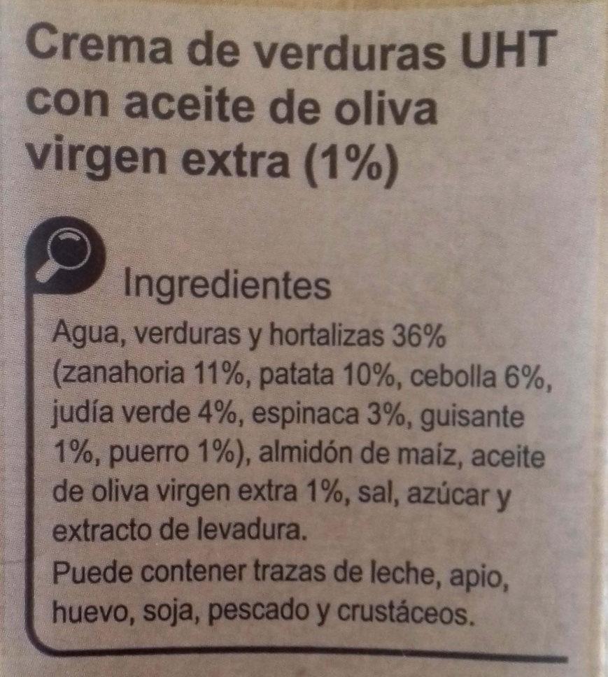 Crema verduras de la huerta - Ingrédients - es