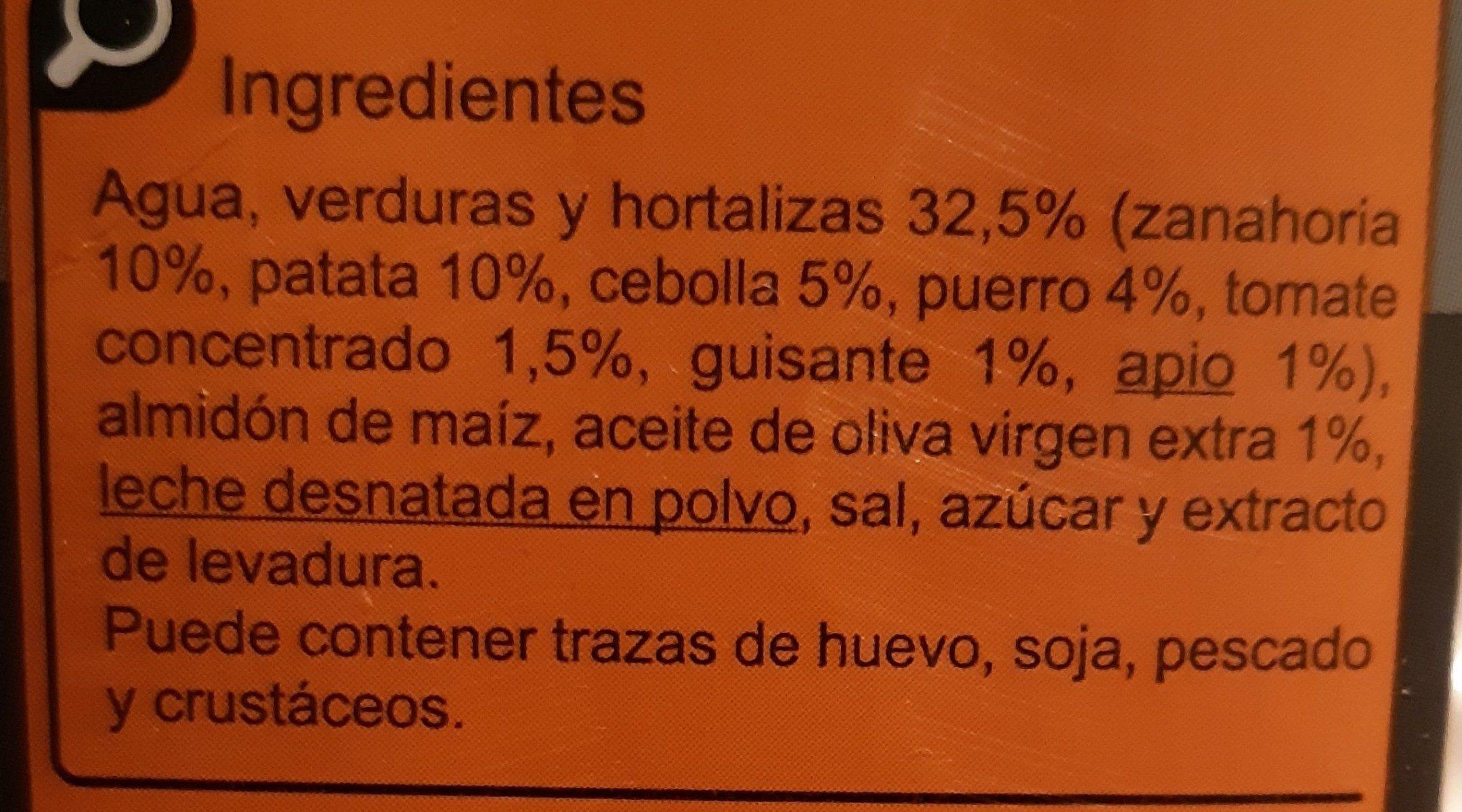 Crema de verduras mediterráneas - Ingrediënten - es