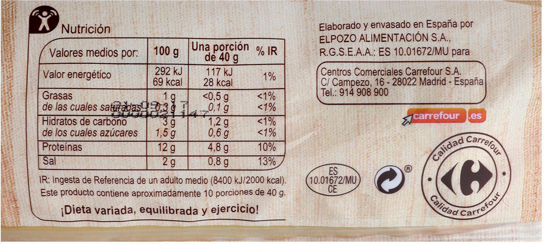 Pechuga De Pollo Pieza - Informació nutricional - es