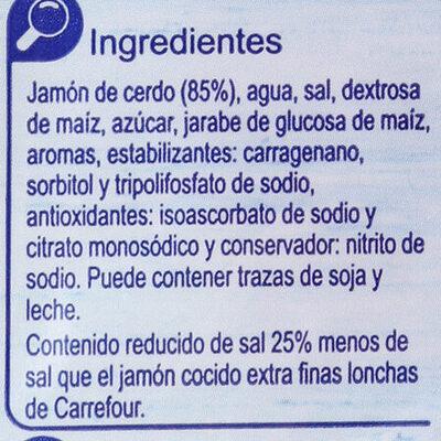 Jamon Cocido Extra Finas Lonchas Red.Sal - Ingredients - es