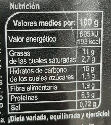 Pasta y rúcula - Informació nutricional - es