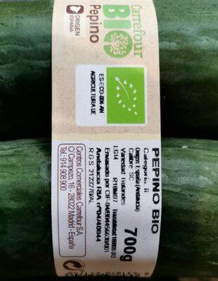 Pepino bio - Información nutricional
