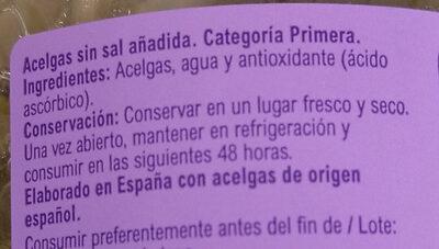 Acelgas - Ingredients