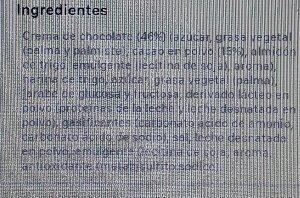 Galleta mega rellena chocolate - Ingredients - es
