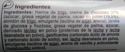 Galleta rellena chocolate - Ingredients - es