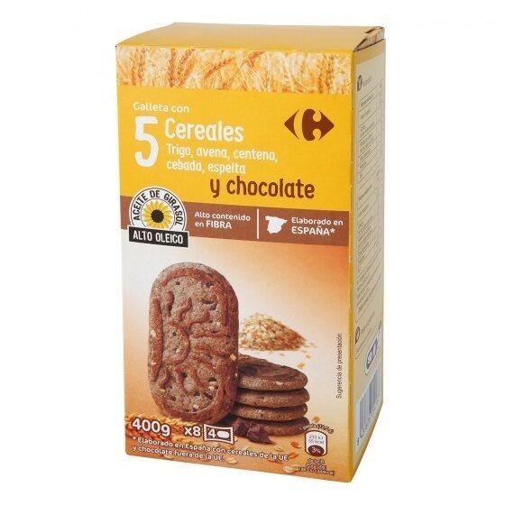 Galletas desayuno 5 cereales chocolate - Producto - es
