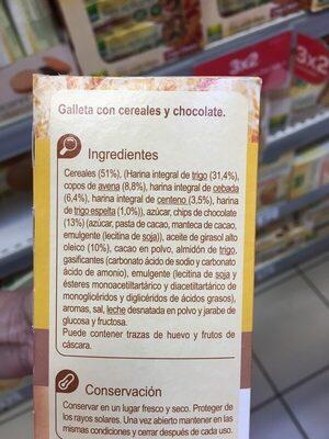 Galletas desayuno 5 cereales chocolate - Ingredientes