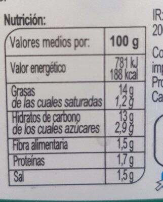 Patatas ali oli - Informations nutritionnelles - fr