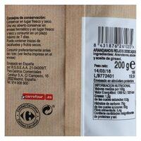 Arándanos - Informació nutricional - es
