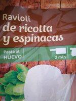 Ravioli de ricotta y espinacas - Produit - fr