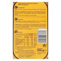 Tortelloni de queso - Valori nutrizionali - es