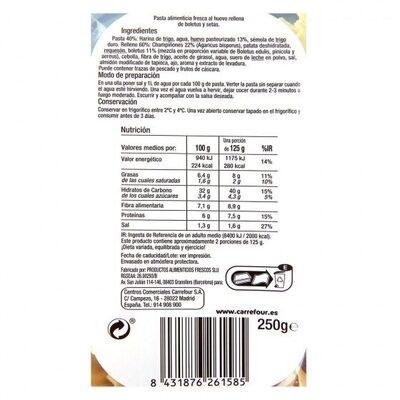 Girasol de boletus y setas selección - Informations nutritionnelles - es