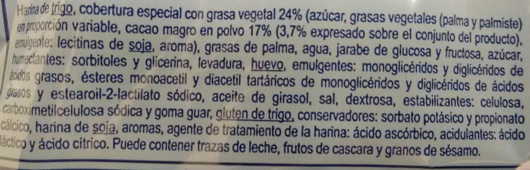 Redondos cacao - Ingrédients - es