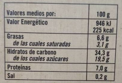 Quesada Pasiega - Informació nutricional