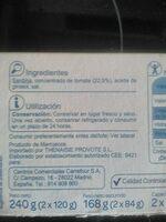Sardina salsa tomate rr-125 - Ingrédients - es