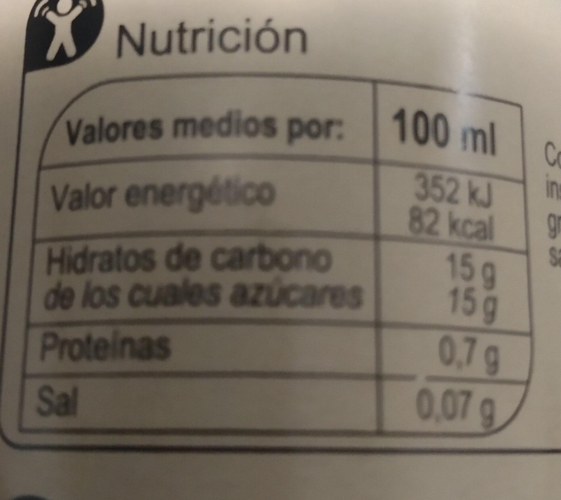 Vinagre de modena balsamico - Nutrition facts - es
