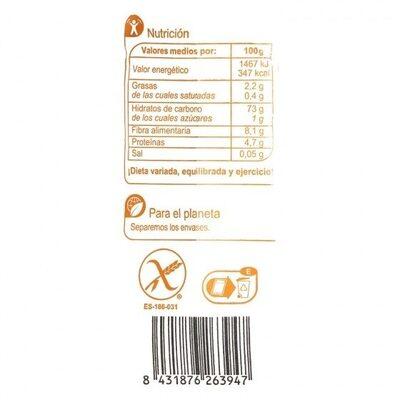 Harina maiz - Información nutricional