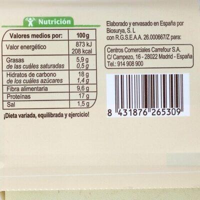 Preparado vegetal quinoa y borraja - Información nutricional - es