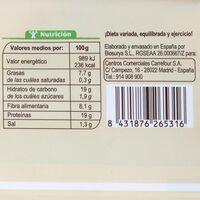 Preparado vegetal soja con zanahoria - Informació nutricional - es