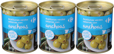 Aceituna manzanilla rellena anchoa bajo - Producto - es