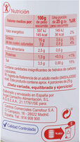 Aceituna manzanilla rellena anchoa - Informació nutricional - es