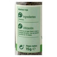 Albahaca - Información nutricional - es