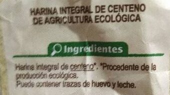 Harina integral de centeno - Ingredients