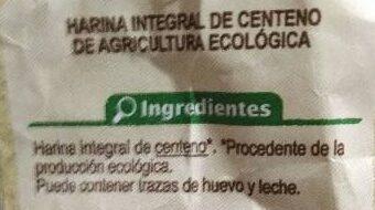 Harina integral centeno - Ingrédients - es