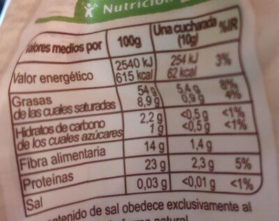 Semillas de sésamo tostado - Informació nutricional