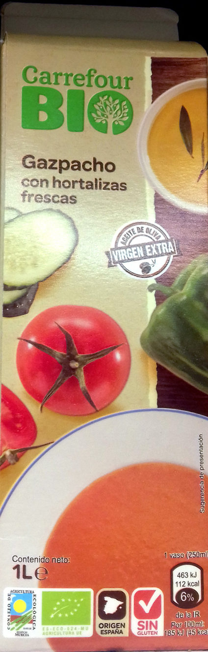Gazpacho con hortalizas frescas - Producte