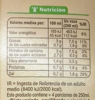 Gazpacho con hortalizas frescas - Informació nutricional