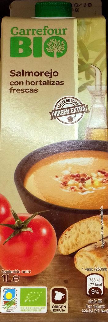 Salmorejo con hortalizas frescas - Product