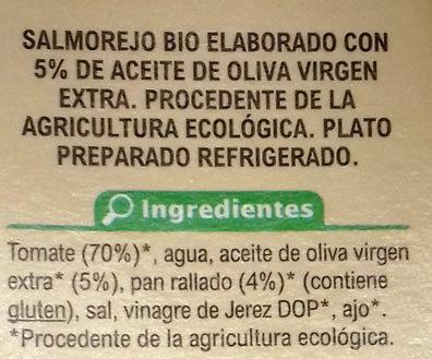 Salmorejo - Ingredients - es